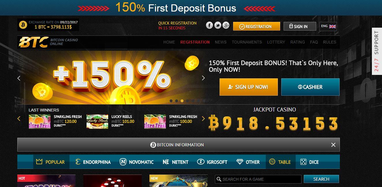 Online bitcoin casino spill kampanjer